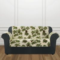Sure Fit® Holiday Pinecone Loveseat Cover in Ivory