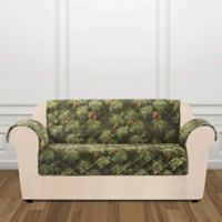 Sure Fit® Holiday Pinecone Loveseat Cover in Evergreen