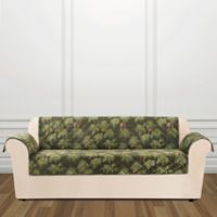 Sure Fit® Holiday Pinecone Sofa Cover in Evergreen