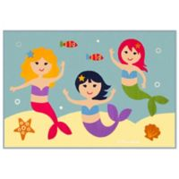 Olive Kids Mermaids 3-Foot 3-Inch x 4-Foot 10-Inch Accent Rug in Blue