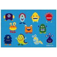 Olive Kids 3-Foot 3-Inch x 5-Foot Monsters Rug in Blue