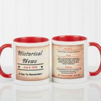 The Day You Were Born 11 oz. Coffee Mug in White/Red