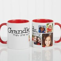 They're Worth Spoiling 11 oz. Coffee Mug in White/Red