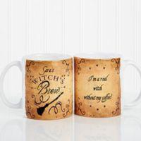 Witch's Brew 11 oz. Coffee Mug in White
