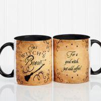 Witch's Brew 11 oz. Coffee Mug in White/Black