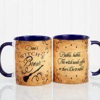 Witch's Brew 11 oz. Coffee Mug in White/Blue