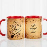 Witch's Brew 11 oz. Coffee Mug in White/Red