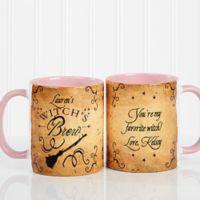 Witch's Brew 11 oz. Coffee Mug in White/Pink