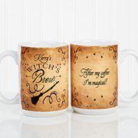 Witch's Brew 15 oz. Coffee Mug in White