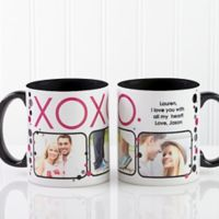 XOXO 11 oz. Coffee Mug in White/Black