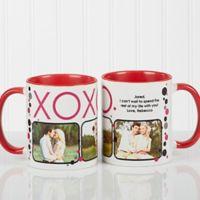 XOXO 11 oz. Coffee Mug in White/Red