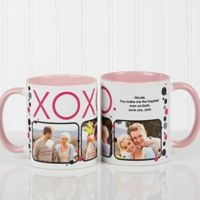XOXO 11 oz. Coffee Mug in White/Pink