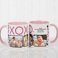 XOXO 11 oz. Coffee Mug in White/Pink