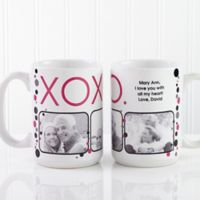 XOXO 15 oz. Coffee Mug in White