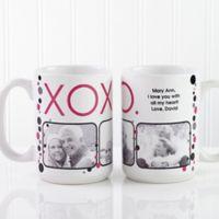 XOXO 15 oz. Coffee Mug in White