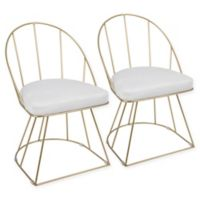 LumiSource Canary Dining Chairs in White (Set of 2)