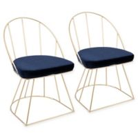 LumiSource Canary Dining Chairs in Blue (Set of 2)