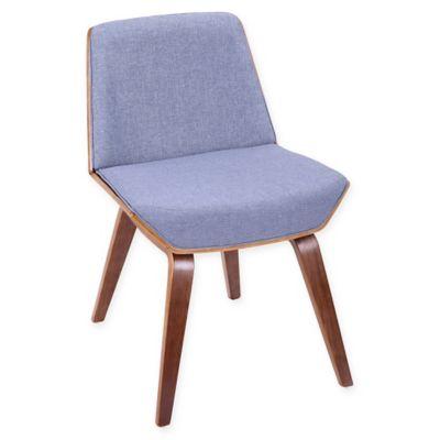 LumiSource Corazza Mid Century Modern Chair In Blue