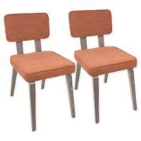 LumiSource Nunzio Dining Chairs in Orange (Set of 2)