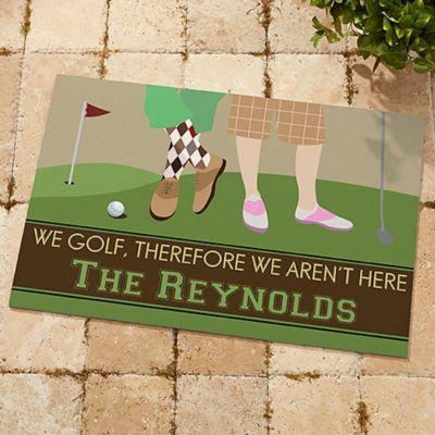Gone Golfing 20 Inch X 35 Inch Door Mat