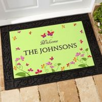 Floral Welcome 20-Inch x 35-Inch Door Mat