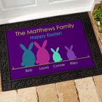 Easter Bunny Family 18-Inch x 27-Inch Door Mat