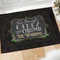 Merry Little Christmas 18-Inch x 27-Inch Door Mat