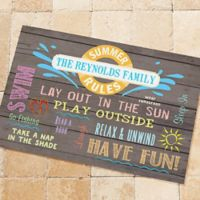 Summer Rules 18-Inch x 27-Inch Door Mat