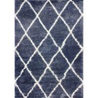 nuLOOM Diamond Shag 5-Foot 3-Inch x 7-Foot 6-Inch Area Rug in Blue