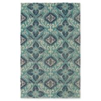 Kaleen Weathered Dhahran Indoor/Outdoor 2-Foot x 3-Foot Accent Rug in Teal