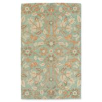 Kaleen Weathered Jabail 2-Foot x 3-Foot Indoor/Outdoor Accent Rug in Turquoise
