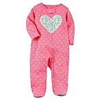 carter's Preemie Floral Heart Footie in Pink