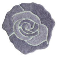 Jessica Simpson 26-Inch x 28-Inch Bath Mat in Purple/White