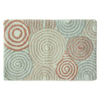 bacova galax 20inch x 30inch bath rug in pink