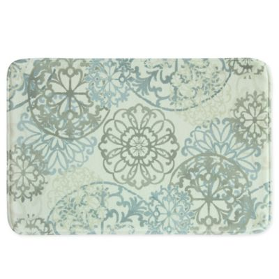 Bacova Kaleidoscope Memory Foam Bath Rug In Blue