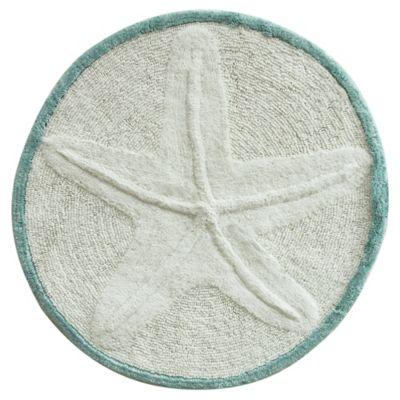 bacova starfish bath rug in white