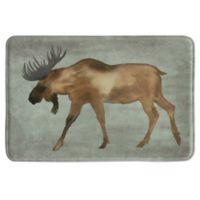 Bacova 20-Inch x 30-Inch Moose Bath Rug in Brown
