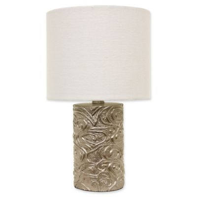 Décor Therapy Rose Accent Lamp In Rose With Fabric Shade