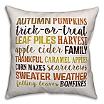 Designs Direct Fall Things Square Throw Pillow in White