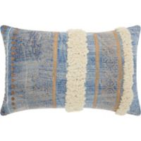 Mina Victory by Nourison Metallic Boho Loops Throw Pillow in Blue