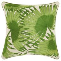 Mina Victory by Nourison Palm Tree Leaves Square Throw Pillow in Green