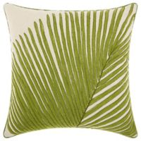 Mina Victory by Nourison Palm Frond Square Throw Pillow in Green