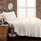 Lush Decor Pompom Stripe Full/Queen Quilt Set in White