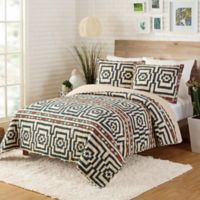 Justina Blakeney by Makers Collective Hypnotic King Quilt Set in Black