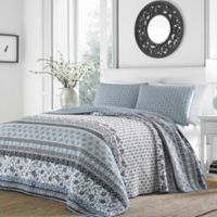 Stone Cottage Bexley Reversible King Quilt Set in Light Blue