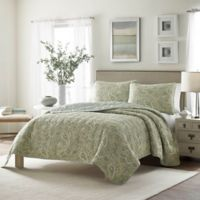 Stone Cottage Emilia Reversible Twin Quilt Set in Green
