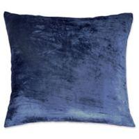 Peri Home Matelassé Medallion Velvet Iced Ombre European Pillow Sham in Navy