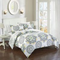 Chic Home Majorca 3-Piece Reversible King Duvet Cover Set in Grey