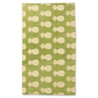 Thro by Marlo Lorenz Perry Pineapple 2-Foot 3-Inch x 3-Foot 9-Inch Accent Rug in Dark Citron