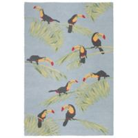 Liora Manne Toucans 3-Foot 6-Inch x 5-Foot 6-Inch Area Rug in Sky